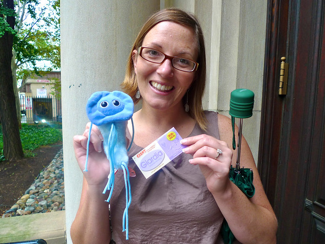 With her giardia!