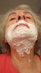 Shaving at 77