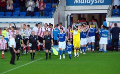 Teams Come Out (joncandy) Tags: city wales photo football championship image stadium soccer cardiff picture bluebird southampton ccfc joncandy