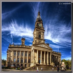 Bolton, UK (Dr Sreenidhi S) Tags: blue windows sky people panorama colour building monument construction unitedkingdom victorian bolton pillars hdr