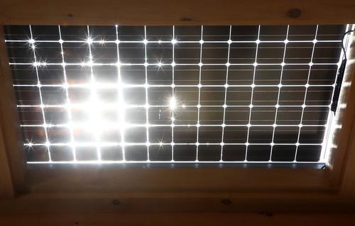 Sun Hits Solar Panels