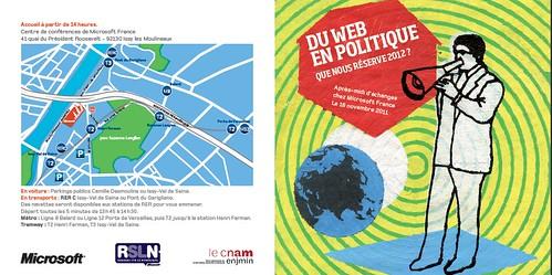 RSLN - Du web en politique : que nous réserve 2012?
