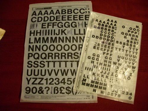 Letraset sheets
