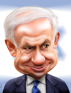 From http://www.flickr.com/photos/47422005@N04/6195602848/: Benjamin Netanyahu - Caricature