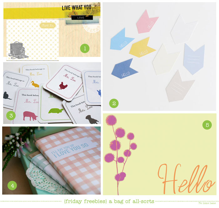 {friday freebies} a bag of all-sorts