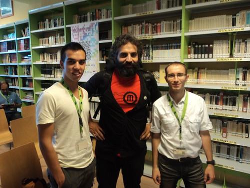 Con David Cuartielles, creador de Arduino