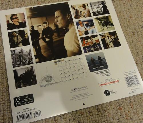 Official U2 2012 Calendar (2)