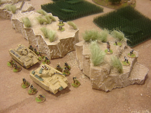 Scot Guards approach village