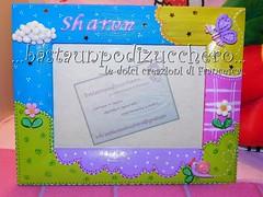 Portafoto Sharon (bastaunpodizucchero) Tags: porcelanafria coldporcelain portafoto pastadimais cornicedecorata
