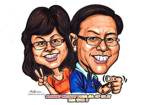 Couple caricatures in colour marker 03082011 revised
