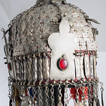 6088a detail Turkman bridal Headdress, Central Asia thumbnail
