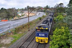 Hazelbrook coal (highplains68) Tags: railroad rail railway australia bluemountains nsw newsouthwales aus hazelbrook pn coaltrain pacificnational 8234 82class mainwesternline