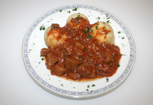 36 - Italienischer Gulasch / Goulash italian style - Fertiges Gericht