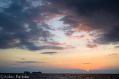 Dramatic Sunset, Guanacaste, Costa Rica (sjcap) Tags: ocean vacation sun green beach coast sand nikon costarica rocks jungle lush centralamercia d3100 nikond3100 pdxap