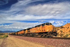 Union Pacific Coal Train at Lugo (Dave Toussaint (www.photographersnature.com)) Tags: california ca city railroad travel sky usa cloud nature beautiful up night train photoshop canon landscape photo interestingness interesting october track skies photographer cs2 magic picture engine rr explore socal adobe unionpacific hesperia locomotive southerncalifornia coal ge lugo hopper 1001 generalelectric sanbernardinocounty 2011 polarize cajonpass ac44cw denoise 60d ac4400cw topazlabs topazadjust photographersnaturecom davetoussaint cajonsubdivision