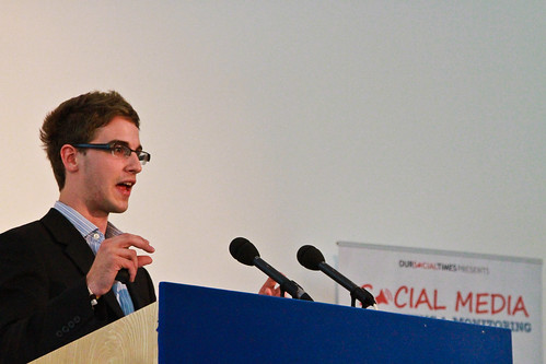 SEOptimise speaking at a social media conference