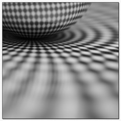 Abstract Square #3 - Optical (Stevpas68) Tags: blackandwhite bw abstract macro reflections square opticalillusion ballbearing abstractsquare