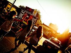 (Dalya Orli Photography) Tags: street light sky orange sun bright walk silhouettes angles reach greeting