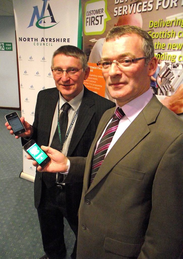 North Ayrshire Council is first in Scotland to launch report it app for iphone