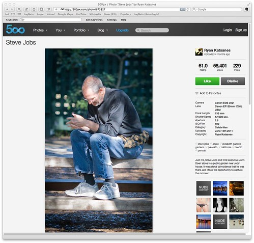 "500px / Photo ""Steve Jobs"" by Ryan Katsanes"
