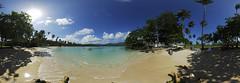 Panoramique Playa El Rincon, Samana, St Domingue, Monde