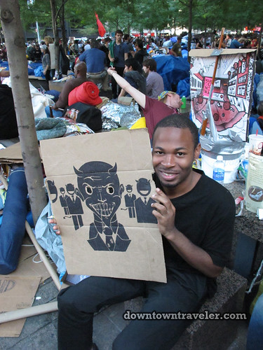 NYC Occupy Wall Street Rally Oct 8 2011 drawing