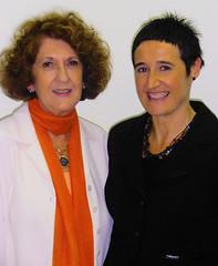 María José Velasco y Ane Ruiz de Zarate
