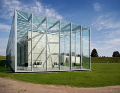 Langen Foundation (Bart van Damme) Tags: park summer green art water glass wall architecture germany concrete blackwhite pond steel august architect popart sculpturegarden vitra japaneseart ruhr nato neuss 2007 rocketlauncher inselhombroich opart alexandercalder navo artepovera minimalart artgarden constantinbrancusi derblauereiter architecturephotography maartenvanseveren langenfoundation rocketstation vladimirtatlin tadaoandoarchitect 03chair mariannelangen emailinfostudiovandammecom wassilikandinski raketenstationhombroich1
