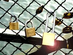 Locked on the Pont des Arts (Michael Hendrickx) Tags: bridge paris france love seine lock arts des pont padlock locked