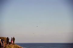 coloredtrail (klausfish) Tags: ocean sky people film birds 35mm newfoundland fuji walk stjohns trail edge atlanticocean signalhill expiredfilm