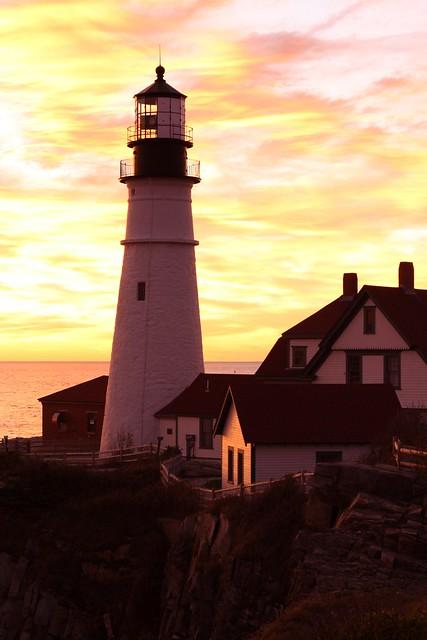 Portland Head Light at Sunrise II