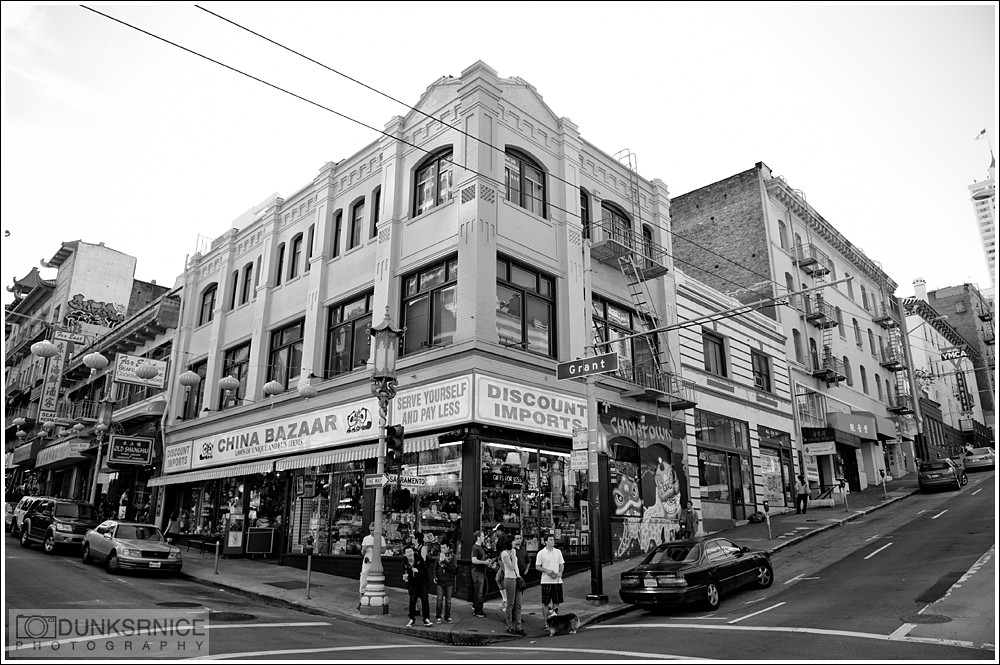 Chinatown San Francisco, B&W.