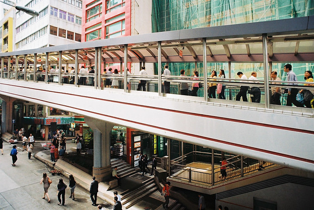 Central Escalator in Hong Kong