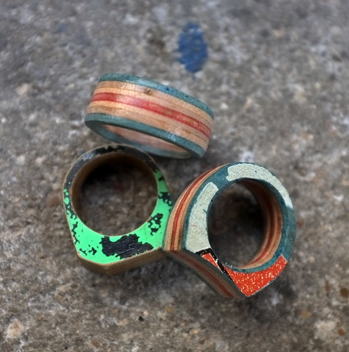 Skateboard Recycle - Rings