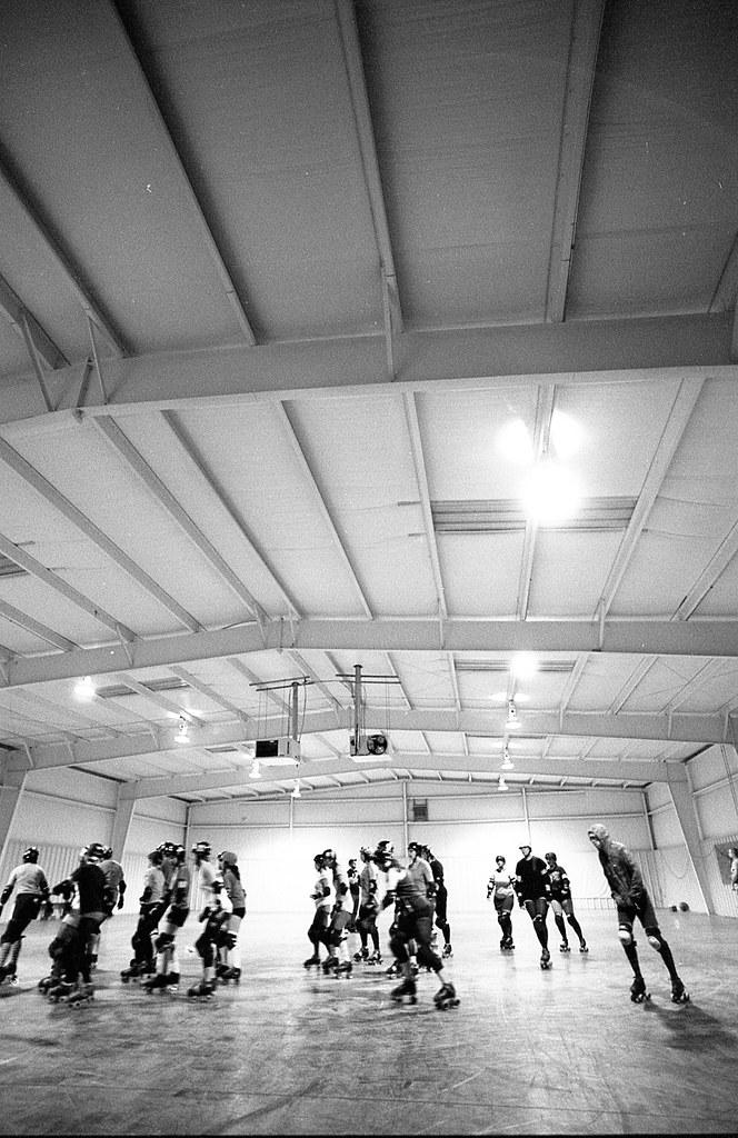 Greensboro Roller Derby practice