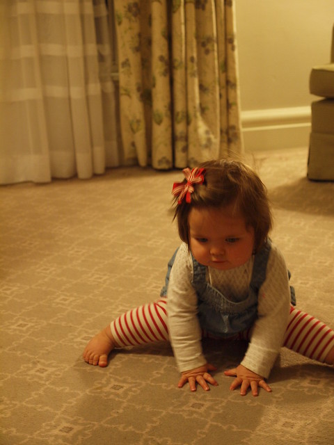 elodie works on her crawling
