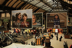 People and Ants (Undazir) Tags: city people urban paris station hall garedelyon advertissement