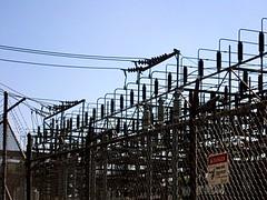 Redlands Substation (IE Rick) Tags: california ca tower cali high wire power transformer cable pole redlands substation fuse voltage sce insulator 4kv 66kv 12kv