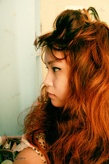 Summer Breeze (Eba Eredera) Tags: selfportrait girl asian redhead sideview eyeliner yamainoue ebaeredera