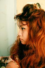 Summer Breeze (Eba Eredera) Tags: selfportrait girl asian redhead sideview eyeliner yamainoue ebaeredera