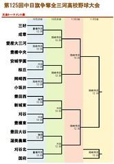 第125回中日旗争奪全三河高校野球大会トーナメント表