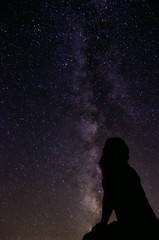 Look to the stars..... (BlackRockBacon) Tags: august galaxy sihlouette milkyway 2011