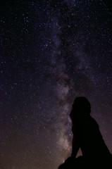 Look to the stars..... (BlackRockBacon) Tags: august galaxy sihlouette milkyway 2011