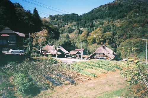 田麦俣の集落