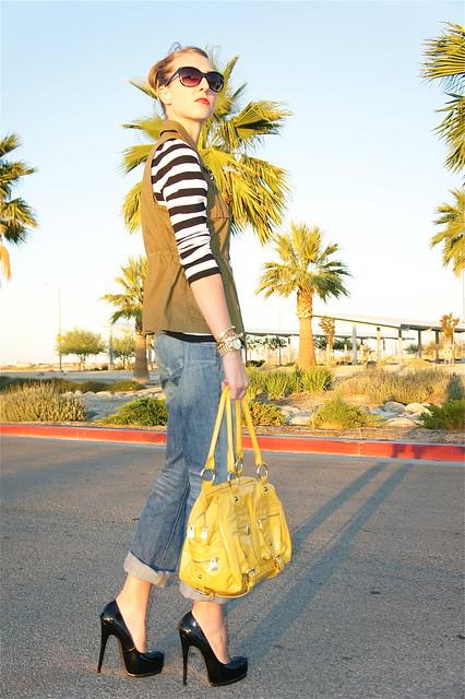 Cargo vest and boyfriend jeans