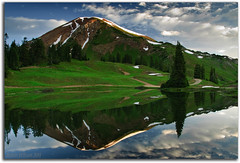 Timberline Reflections (Robin-Wilson) Tags: mountain lake mountains reflection landscape washington colorado paradise butte cinnamon crested crestedbutte divide gulch fourwheeldrive paradisedivide washingtongulch 11250ft3429m cinnamonmtn