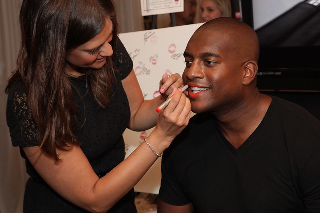 Kevin Weekes gets his lips done for Stila's Kiss for a Cause