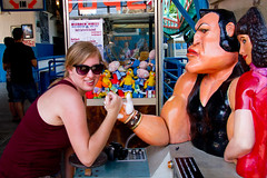 Arm Wrestling (elrina753) Tags: nyc newyorkcity people usa newyork brooklyn unitedstates arcade parks amusementpark themepark astroland astrolandpark