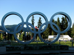 after the Games (Szymek S.) Tags: canada logo whistler symbol britishcolumbia rings olympics olympicgames seatosky winterolympics vancouver2010 olympicrings whistlervillage olympicwintergames