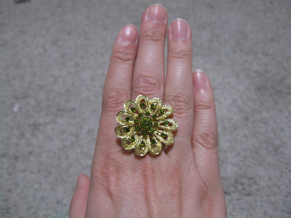 Gold/Peridot Ring